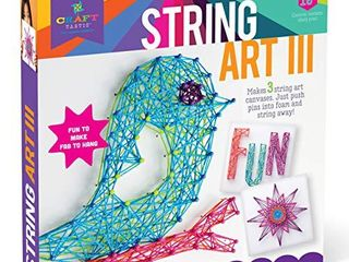 Craft tastic DIY String Art Craft Kit for Kids Everything Included For 3 Fun Arts   Crafts Projects Bird Series