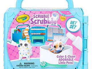 Crayola Scribble Scrubbie Pets  Vet Toy Playset with Toy Pets  Kids at Home Activities  Gift for Kids