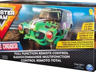 Monster Jam  Official Grave Digger Remote Control Monster Truck  1 24 Scale  2 4 GHz  for Ages 4 and Up