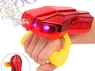 Auney Handheld Bubble Machine with light  Automatic lED Bubble Blower Bubble Maker More Than 2000 Bubbles Per Minute  Bubble Machine for Kids  Red Bubble Toy with Sound for Kids
