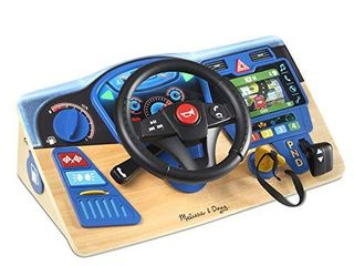 Melissa   Doug Vroom   Zoom Interactive Wooden Dashboard Pretend Play Driving Toy