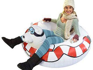 GoFloats Winter Snow Tube   Inflatable Toboggan Sled for Kids and Adults  Choose from Unicorn  Ice Dragon  Polar Bear  Penguin  Flamingo   ST POlARBEAR 01