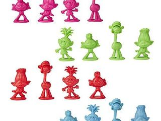 Trouble  DreamWorks Trolls World Tour Edition Board Game for Kids Ages 5 and Up  Includes Tiny Diamond Figure with Hair  Model E8906