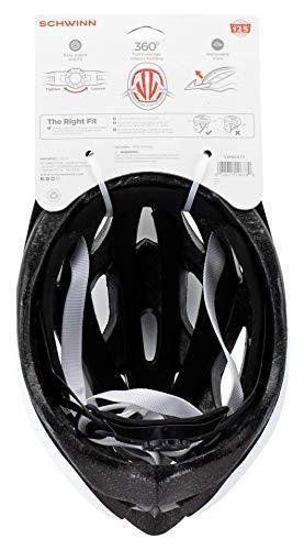 Schwinn Thrasher Bike Helmet  lightweight Microshell Design  Adult  White Silver  CRACKED ON SIDE