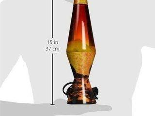 lamp lava 2149 14 5 inch  Decal Colormax  Color Max Volcano Base White Wax Clear liquid Tri Colored Globe