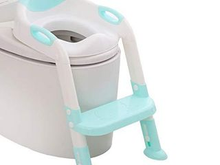 711TEK Potty Training Seat Toddler Toilet Seat with Step Stool ladder Potty Training Toilet for Kids Boys Girls Toddlers Comfortable Safe Potty Seat Potty Chair with Anti Slip Pads ladder  Blue