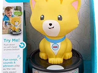 Fisher Price laugh   learn Crawl After Cat on a Vac  Musical Baby Toy