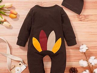 Shalofer Thanksgiving Baby Boy Romper Toddler Baby Girl Turkey Jumpsuit  Brown 18 24 Months