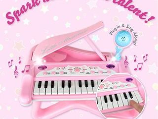 ToyVelt Toy Piano for Toddler Girls a Cute Piano for Kids with Built in Microphone   Music Modes   Best Birthday Gifts for 3 4 5 Year Old Girls a Educational Keyboard Musical Instrument Toys