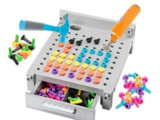 Educational Insights Design   Drill My First Workbench  Gray  Supports STEM learning  Ages 3 and Up   125  Pieces