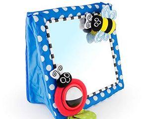 Sassy Tummy Time Floor Mirror   Developmental Baby Toy   Newborn Essential for Tummy Time   Great Shower Gift