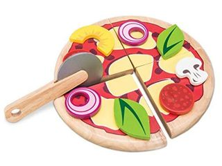 le Toy Van   Childrens Wood Pretend Play Food   Wooden Honeybake Pizza Pretend Food Toy Playset   Toy Kitchen Accessories Play Food Role Play Toy  TV279