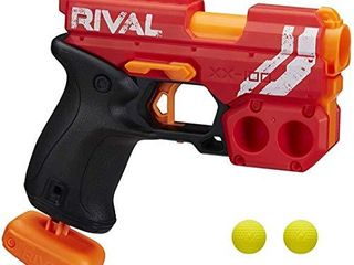 NERF Rival Knockout XX 100 Blaster   Round Storage  90 FPS Velocity  Breech load   Includes 2 Official Rival Rounds   Team Red