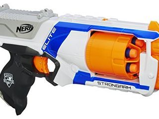 Nerf N Strike Elite Strongarm Toy Blaster with Rotating Barrel  Slam Fire  and 6 Official Nerf Elite Darts for Kids  Teens    Adults