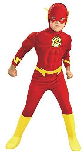 Rubie s DC Comics Deluxe Muscle Chest The Flash Child s Costume  Medium