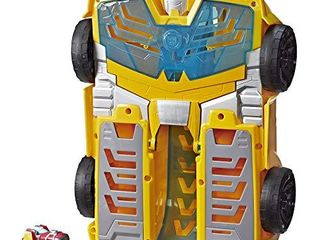 Playskool Heroes Transformers Rescue Bots Academy Bumblebee Track Tower 14  Playset  2 in 1 Converting Robot  Collectible Toys for Kids Ages 3   Up