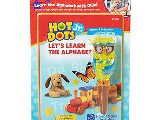 Educational Insights Hot Dot Jr  let s learn the Alphabet Interactive Book   Interactive Pen Set  30 ABC Activites  Homeschool   Preschool Readiness  Ages 3
