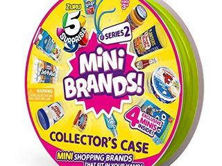 5 Surprise Mini Brands Collector s Case Series 2  Comes with 4 Exclusive Minis  4 Exclusive Minis by ZURU  7785