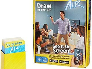 Mattel Games Pictionary Air Drawing Game  Family Game with light up Pen and Clue Cards  links to Smart Devices  Makes a Great Gift for 8 Year Olds and up