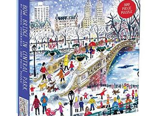 Galison 500 Piece Michael Storrings Bow Bridge in Central Park Jigsaw Puzzle for Adults and Families  New York City Puzzle with Central Park Scenery