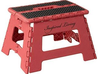 Inspired living Step Heavy Duty folding stools  9  High  RED