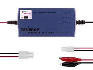 Tenergy RC Battery Charger for NiMH NiCd 7 2V 12V 6S 10S Battery Packs  Smart Charger for RC Cars  RC Airplanes  Airsoft Batteries  Compatible with Standard Tamiya Mini Tamiya Alligator Clip Connector