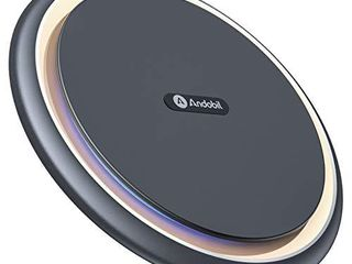 Andobil Boost Wireless Charger 15W Qi Certified Safe Charging Pad Compatible for iPhone12 12 Pro 12 Pro Max  iPhone11 SE XR X 8  Samsung galaxy S21 S20 S10 9 Note 20 10 9 AirPods Pro with USB C Cable