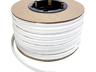 Instatrim 1 2 Inch  Covers 1 4  Gap  Flexible  Self Adhesive  Caulk and Trim Strips for Floors  Ceilings  Countertops and More  White  100ft long  1 Pack