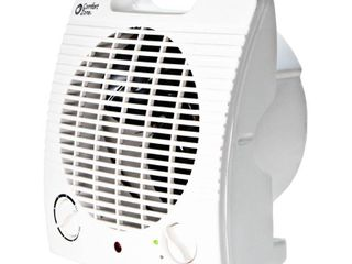 Comfort Zone Energy Save 5120 BTU Personal Fan Forced Furnace Electric Heater  White