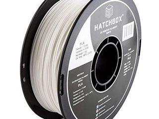 HATCHBOX PlA 3D Printer Filament  Dimensional Accuracy   0 03 mm  1 kg Spool  1 75 mm  White