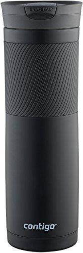 Contigo 72952 Vacuum Insulated Stainless Steel Travel Mug  24 Ounce  matte black