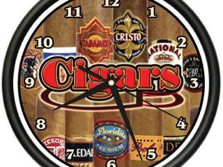 Cigar Wall Clock Shop Smoker humidor Box Cigars Gift