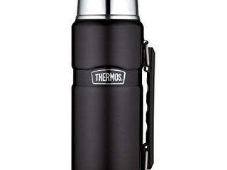 Thermos Stainless King 40 Ounce Beverage Bottle  Matte Black