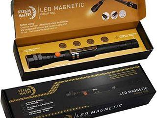 DREAM MASTER Magnet 3 lED Magnetic Pickup tool Unique Christmas Gift for Men  DIY Handyman  Father Dad  Husband  Boyfriend  Him  Women  4 x lR44 Batteries
