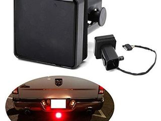 iJDMTOY 35 035 Smoked Dark Smoke lens Tail Brake light for Truck SUV Trailer Class 3 4 5 2 Inch Towing Hitch Receiver  Powered by 15 Super Bright Red lED Bulbs