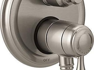 Delta Faucet T27897 SS  Stainless Cassidy Traditional Monitor 17 Series Valve Trim with 3 Setting Integrated Diverter