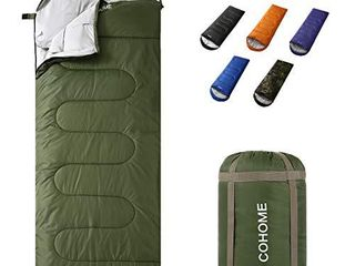 COHOME Sleeping Bag   Adults   Kids 4 Season Camping Backpacking Hiking Traveling for Outdoor   Indoor Use lightweight Compact Bag