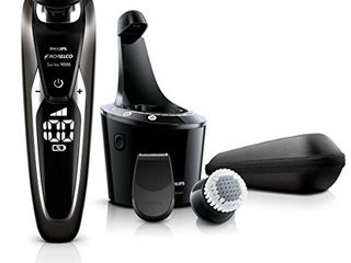 Philips Norelco S9721 89 Shaver 9700 with SmartClean  Rechargeable Wet Dry Electric Shaver with Cleansing Brush Attachment