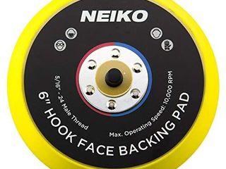 Neiko 30263A Sanding Pads 6  Hook and loop Face for Random Orbital Sanders  1 Piece