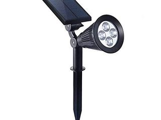 Falove Solar Spotlight Outdoor  180Adjustable Auto On Off Flag Pole lights  Waterproof Security Wall light for Garden  Pool Area  Tree  Pond  landscape and Yard 1 Pack