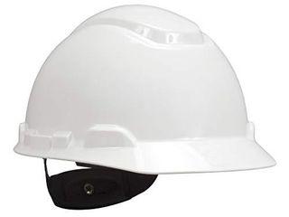 3M Hard Hat  White  lightweight  Adjustable 4 Point Ratchet  H 701R