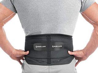 MUEllER 64179 Adjustable Back Brace with Removable Pad Fits Waist Size Plus  50 70 waist  Black