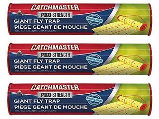 Catchmaster Giant Sticky Fly Trap   3 Pack