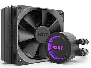 NZXT Kraken M22 120mm   Rl KRM22 01   AIO RGB CPU liquid Cooler   CAM Powered   Infinity Mirror Design   Reinforced Extended Tubing   Aer P120mm PWM Radiator Fan  Included  Black