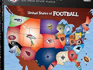 MasterPieces licensed Standard Puzzles Collection   NFl Football Map 500 Piece Jigsaw Puzzle