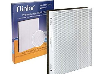 Flintar MD1 0022 True HEPA Replacement Filter  Compatible with Vornado Air Cleaner Purifier Model AC300  AC350  AC500  AC550  PCO200  PCO300  PCO375DC  PCO500 and PCO575DC  1 Pack