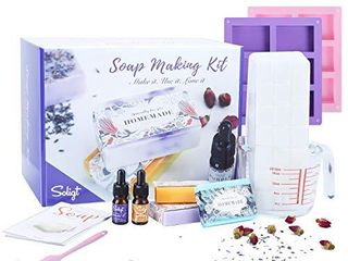 Complete Soap Making Kit Supplies  Soy Wax  Fragrance Oil  Cotton Wicks  Candle Pigment  Candles Art and Craft Supplies  Personalized Handmade Gifts