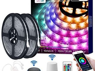 lE lED Strip lights  32 8ft WiFi Smart Waterproof Color Changing lED Strips  SMD 5050 lED Rope light  App Remote Controlled  Tape light for Bedroom  Home and Kitchen