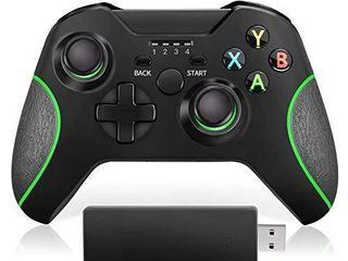 VOYEE Controller Replacement for Microsoft Xbox One Controller  Enhanced Wireless Controller Compatible with Microsoft Xbox One One S One X One Elite PC Windows 10   Black  2020 Upgraded Version