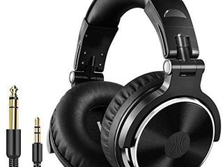 OneOdio Wired Over Ear Headphones Studio Monitor   Mixing DJ Stereo Headsets with 50mm Neodymium Drivers and 1 4 to 3 5mm Audio Jack for AMP Computer Recording Phone Piano Guitar laptop   Black